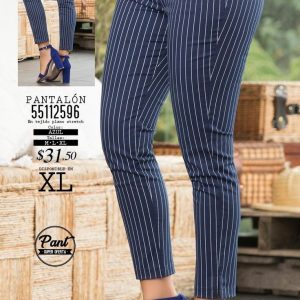 Deep Navy Blue Trousers With White Stripes with a Line Pattern At The Side