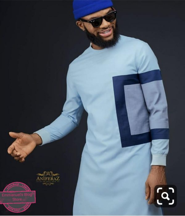 Round Neck Traditional Attire With Elastic Sleeve Finish