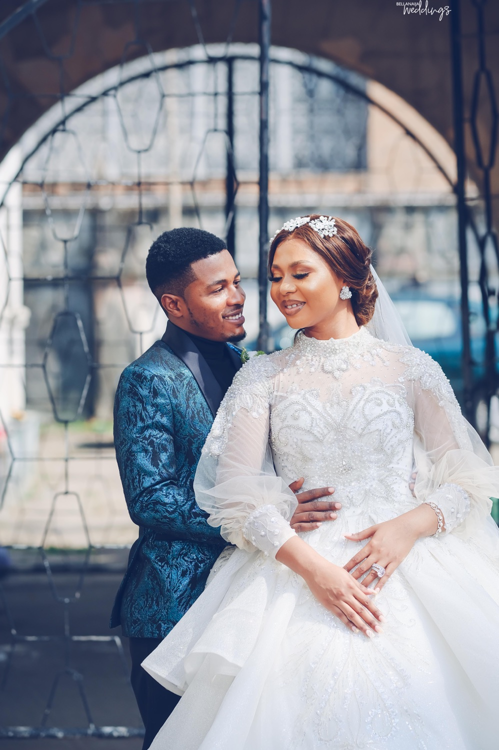She Got A Photo and Then More! You've Got to Love Sandra Adanna & Samuel Ajibola's White Wedding